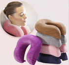 1PC U Shaped Slow Rebound Memory Foam Pillow Travel Neck Pillows Health Care Headrest For Office Car Flight Traveling OU 027