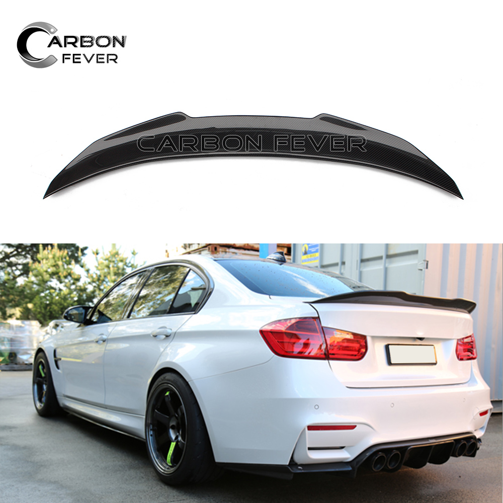 F30 Carbon Fiber Trunk Spoiler Rear Wing PSM Style for BMW 3 Series F30 F80 M3 2012 - IN Saloon for 12 16 bmw 3 series f30 4dr trunk spoiler oem painted match a83 glacier silver