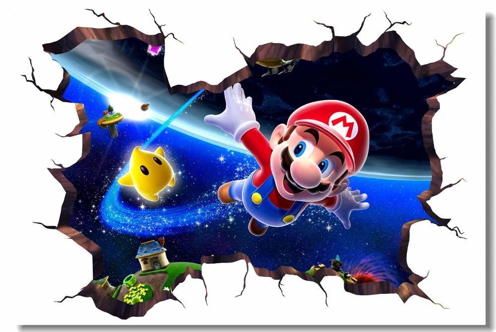 Custom Canvas Wall Decor Bee Luigi Mario Poster Super