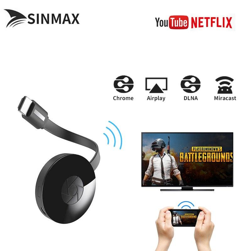 2017 G4 Wi-Fi Anzeige Receiver TV Stick für Google Chrome 2 für Netflix YouTube Crome Chrom geworfen HDMI Media Video Streamer