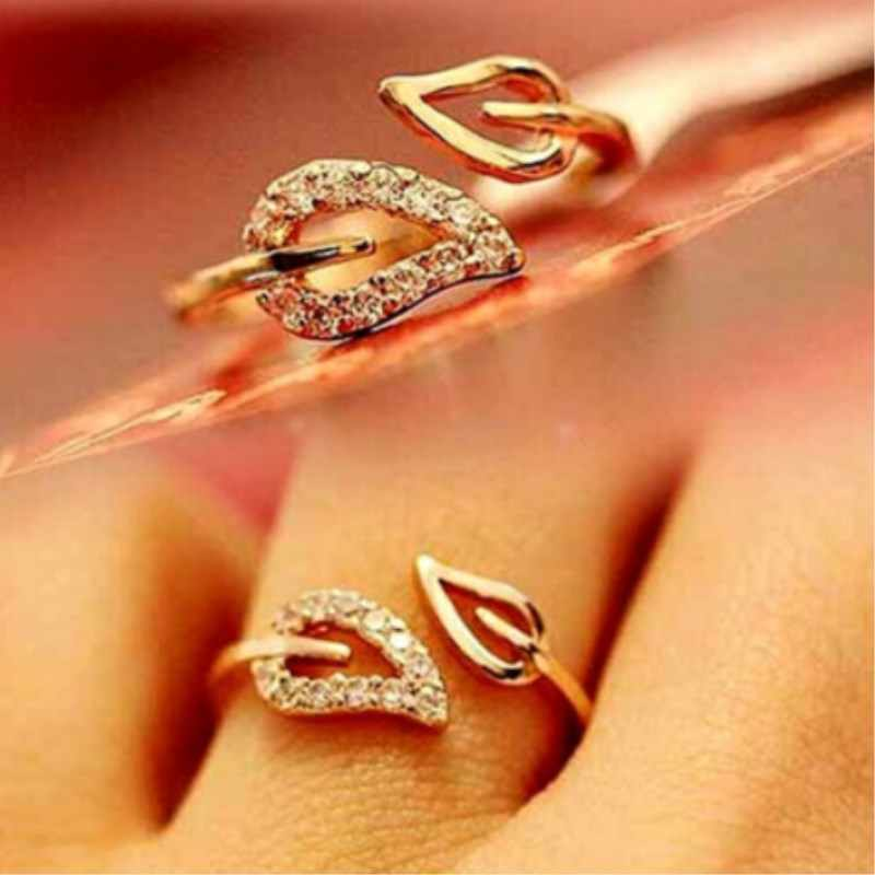 Hot Gift Shining Bright Elements Rings For Women Lovers Open Ring Tree Leaf 4RD221