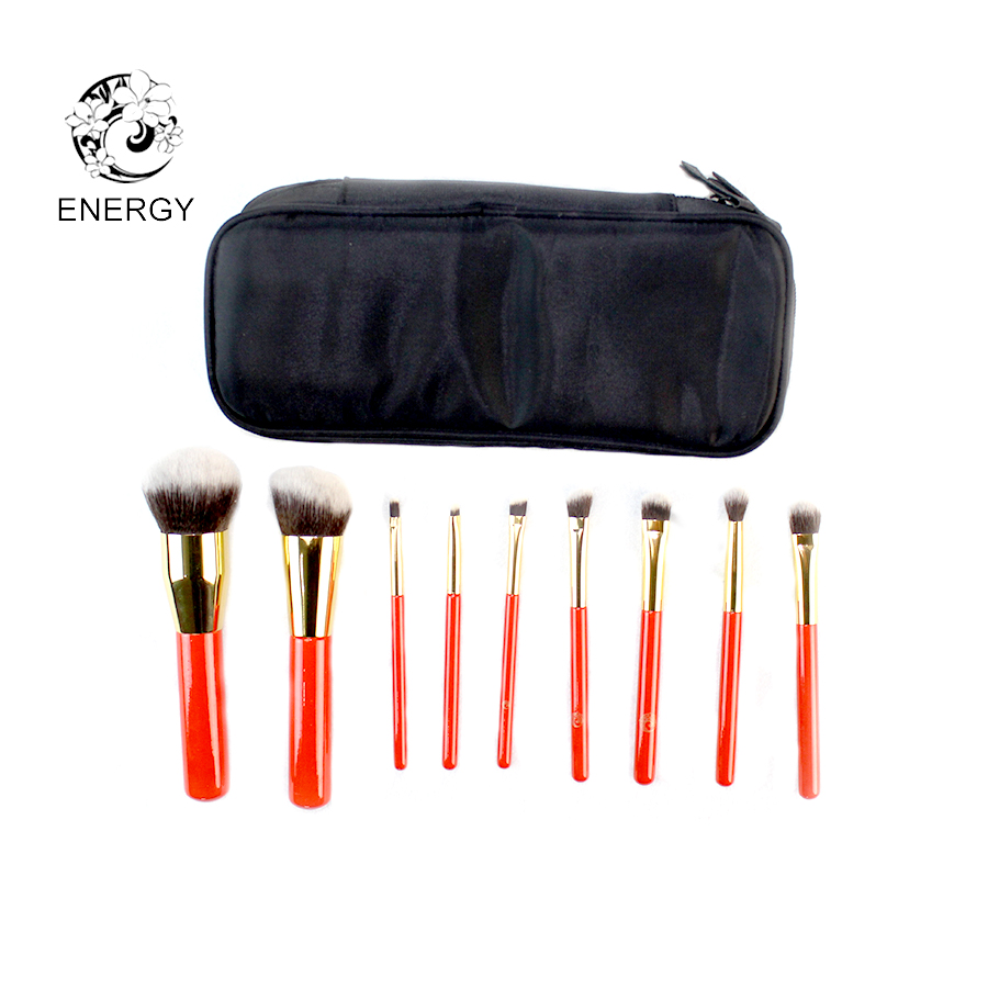 ENERGY Brand Professional Professional 9pcs Machiaj Perii Make Up Set Perie Brochas Maquillaje Pinceaux Maquillage Pincel Maquiagem B09WW