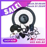 iMortor Electric Bike Conversion Kit with Battery ebike Hub Motor Wheel Controller Motor for Bicycle E bike Conversion Kit MTB