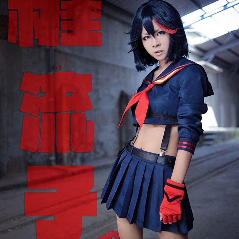 Anime Kill LA Kill Ryuko Matoi Cosplay School Uniform Girl's Halloween Costumes Custom-made Any Sizes Free Shipping