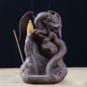 Image 2 - Hot Ceramica Riflusso Bruciatore di Incenso Censer Possessore di Incenso del Drago Bruciatore di Home Office Sala Da Tè Tavolo Scrivania Decora Complementi Arredo Casa