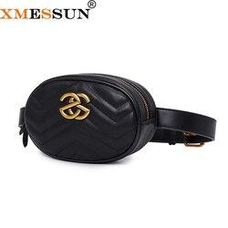 XMESSUN Taille Tasche Frauen Taille Fanny Packs Gürtel Tasche Luxus Marke Leder Brust Handtasche Rose Rot Schwarz Blau 2019 Neue hohe Qualität