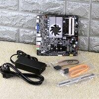 Настольный ПК Тонкий Мини N3160 Integrated J3160 четыре ядра THIN ITX ПК мини материнская плата DC Мощность ed с Питание адаптер