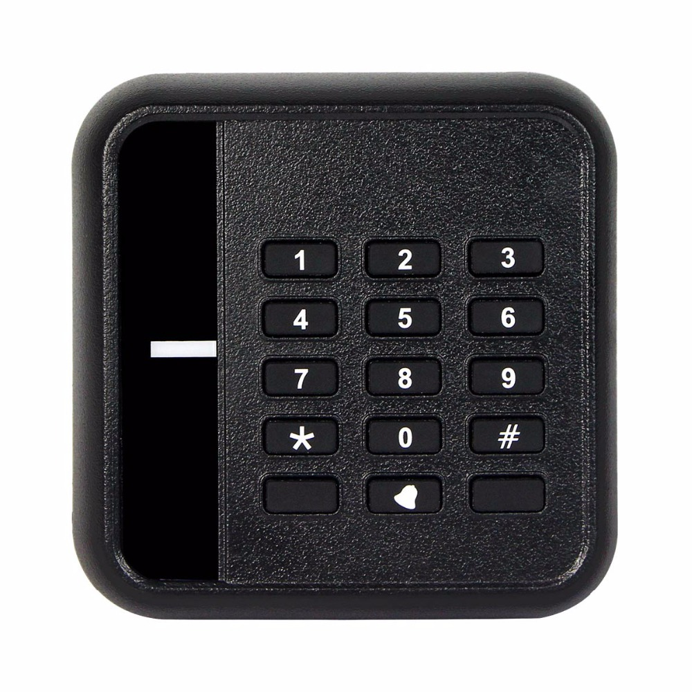 WG26/34 EM-ID 125kHz Keypad For Door Access Control Card Reader Built-in Antenna/Speaker/LED Waterproof For Home Security F1689A