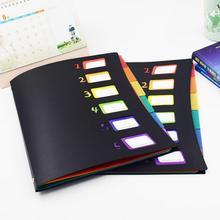 New Listing Multicolor 6 Into Multi-Page Classification Folder A4 PP File Holder Storage Bag Portfolio Office Learn Good Helper bag guido banini bag page 1