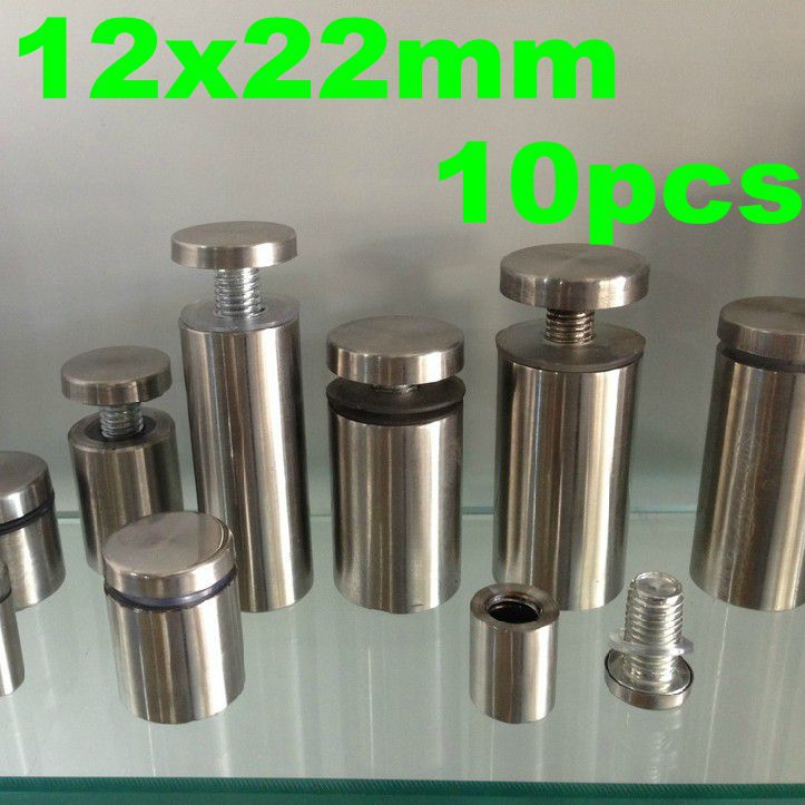 12mm X 22mm 10pcs Stainless Steel Acrylic Advertisement