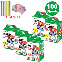 100 листов Fujifilm Instax Mini White Edge пленка мгновенная фотобумага для Instax Mini 8 9 7s 9 70 25 50s 90 SP-1 2 камеры подарки