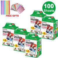 100 Sheets Fujifilm Instax Mini White Edge Film Instant Photo Paper for Instax Mini 8 9 7s 9 70 25 50s 90 SP-1 2 Camera Gifts