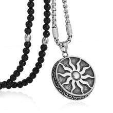 Ожерелье с подвеской «солнце Бог» из нержавеющей стали
