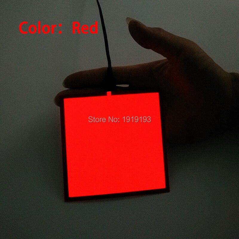 1PCS 6 färg 10X10CM EL-ark LED EL Panel av DC5V USB-drivrutin för - Festlig belysning - Foto 1