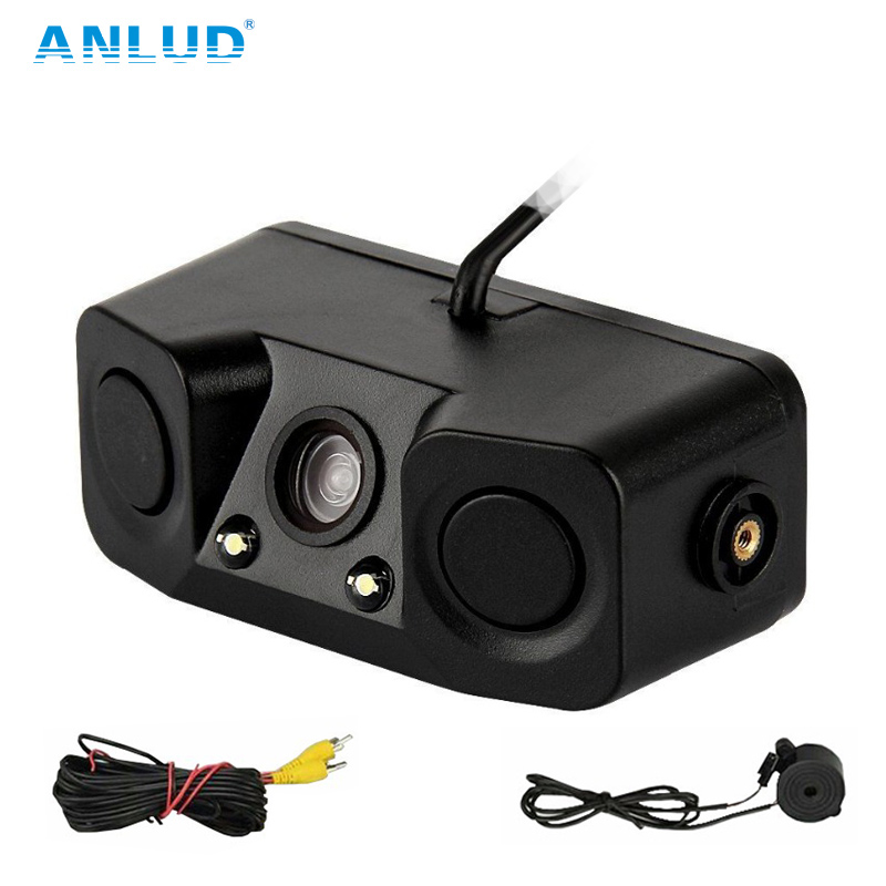 ANLUD Car Rear View Rearview Camera Monitor Front View Backup Parking Assistance Reverse Camera with Buzzer LED Light Car DVR аккумуляторная воздуходувка greenworks 40v g40bl 24107