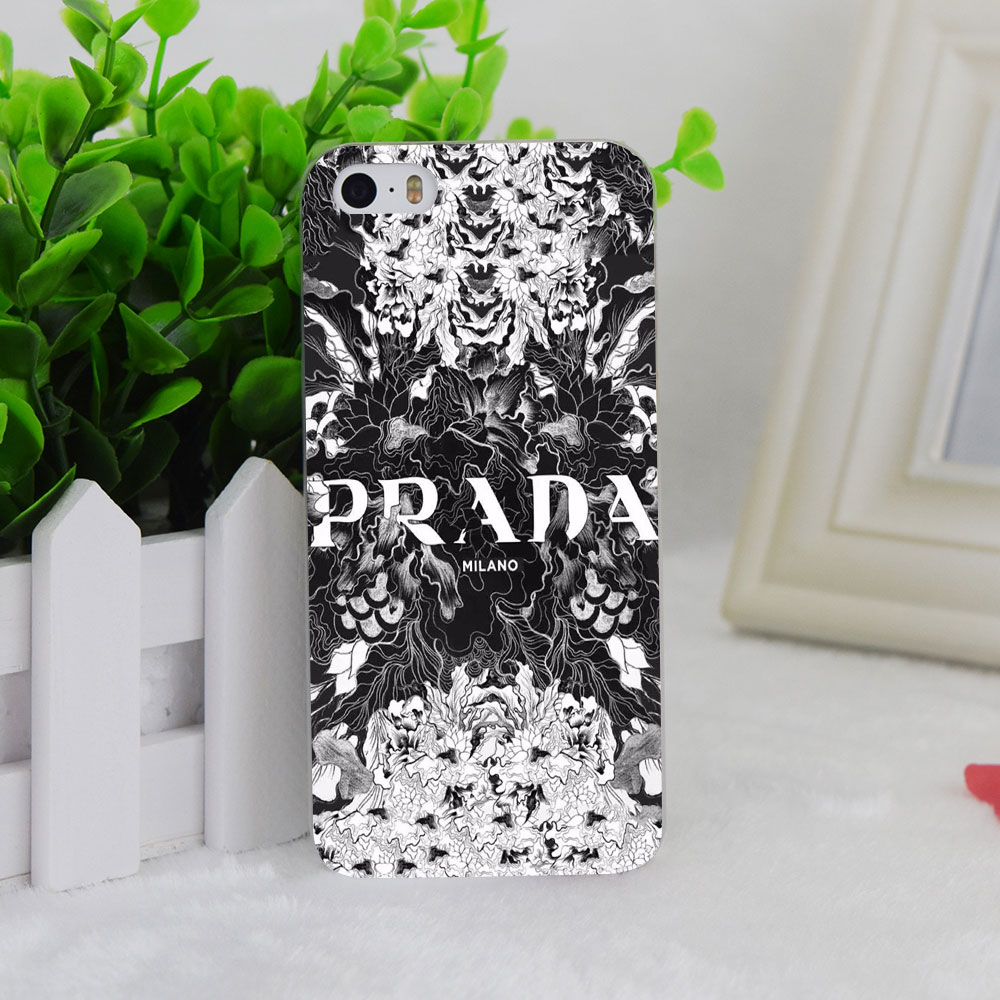 A1041 Italy Luxury Brand Flowers Transparent Hard Thin Case Cover For Apple iPhone 4 4S 5 5S SE 5C 6 6S 6Plus 6s Plus
