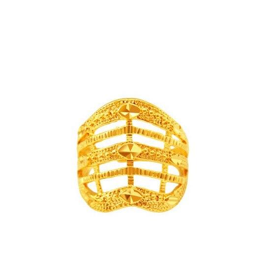 DrBonham duży 23*20mm koktajl pierścionki kobiety 24KGF złoty wypełniony party hollow Ring alliance 24K30