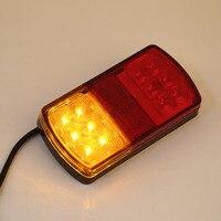 Durable 1 Para 12 v LED Stopp Rückseiten-endstück-anzeige Umge Lampen Lichter Anhänger Auto Lkw Van Kombination Rückleuchten Heißer neue