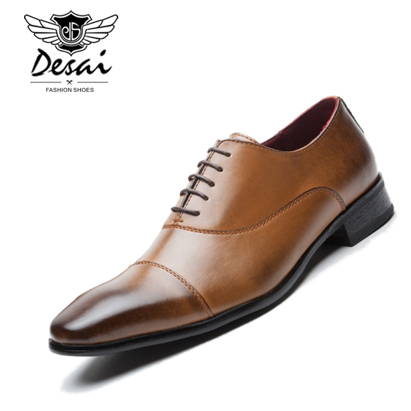 Top Brand Men s Business Dress Shoes Genuine Leather Authentic Gentleman Shoes Formal Casual Shoes Oxfords