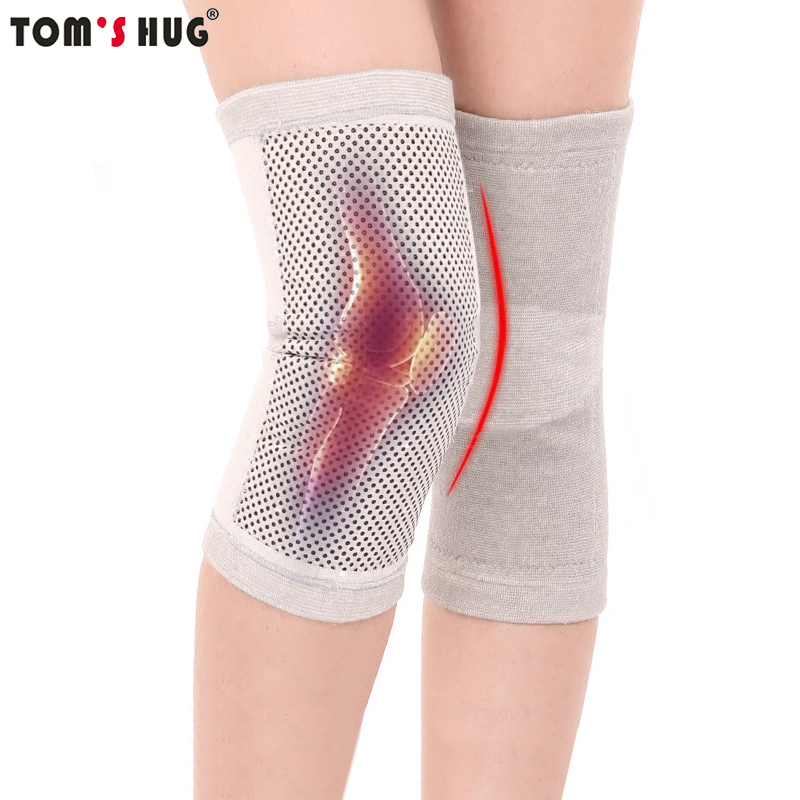 Tom's Hug Tourmaline Self Heating Support Knee Pads 1 Pcs Knee Brace Warm for Arthritis Joint Pain Relief and Injury Recovery