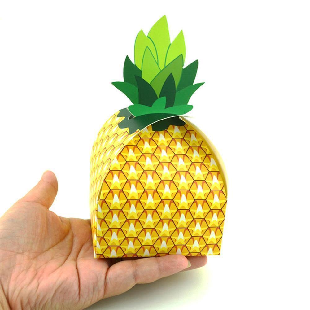 10Pcs Candy Pineapple Paper Box Gift Bag Holiday Wedding Par