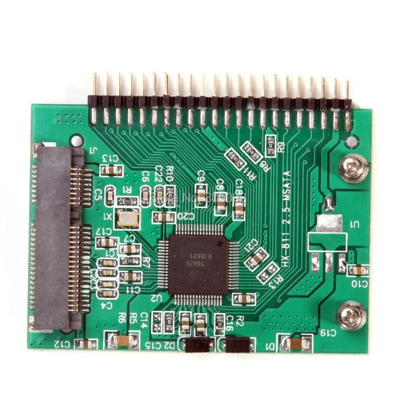 mini PCI-e msata SSD 1.8 to IDE 2.5 inch 5V 44pin Adapter Card msata PCI Express Sata Converter For Laptop Notebook cy u3 179 bk 50mm mini pci e msata 6gbps solid state ssd to usb 3 0 hard disk enclosure black