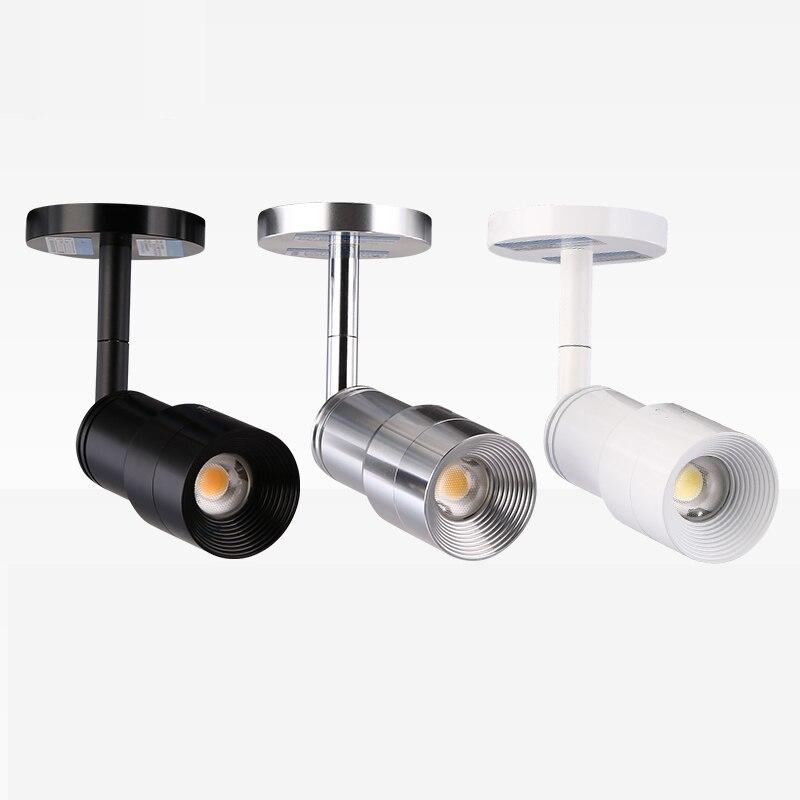 Mini Zoomables Led Spot Light Cob Cree Puce 3 W 220 V 3000 K 4000 K 5000 K Spot Led spots Musée Armoires D'éclairage