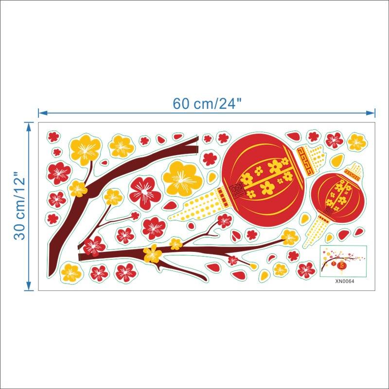 Festliche Chinesische Neujahr rote laterne peach blumen pvc ...