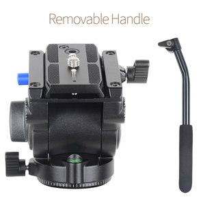 Image 4 - XILETU LS 4 Handgrip فيديو التصوير السائل سحب الهيدروليكية ترايبود رئيس و الإفراج السريع لوحة ل Manfrotto