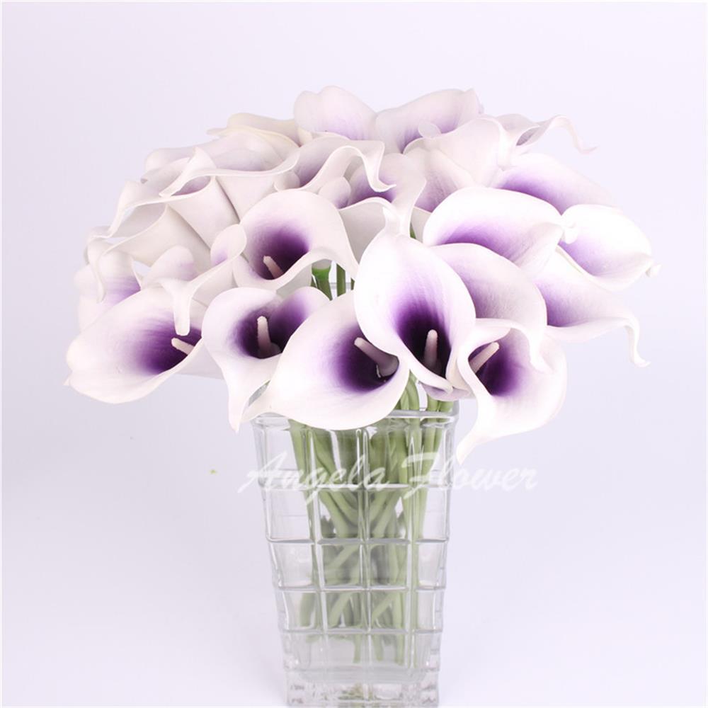 Hi Q 31pcs Artificial Decorative Flowers Pu Real Touch Mini Calla