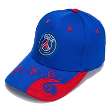 Paris Saint-Germain Blue/Red F.C Embroidered Outdooors Adjustable Mens Baseball Cap For Soccer Fans