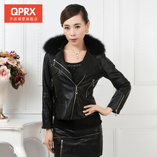 Free shipping women s brand fashion 2013 plus size jacket fox fur leather clothing mother clothing