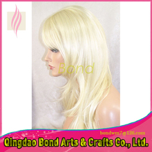 Free shipping full lace human hair wigs and blonde lace front wigs brazilian hair 8-16 natural hairline 613#