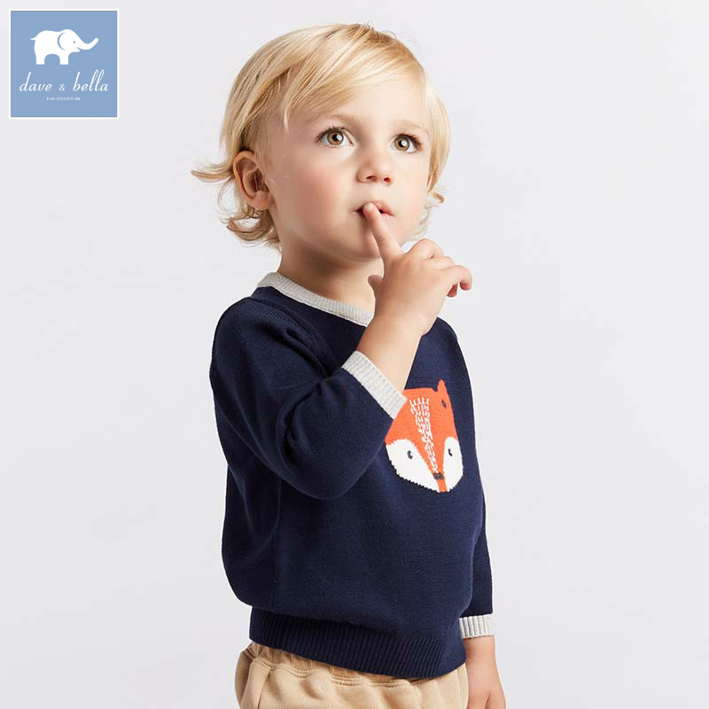 все цены на DB8551 dave bella autumn knitted sweater infant baby boys long sleeve pullover kids toddler tops children knitted sweater