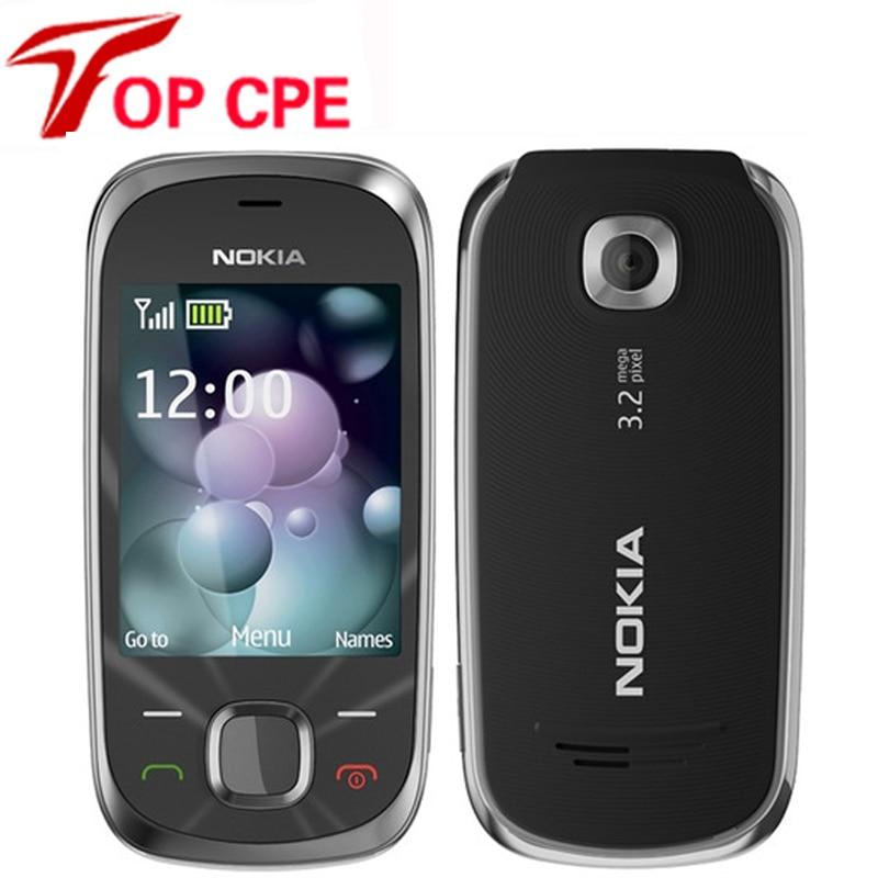 Оригинальный разблокирована Nokia 7230 3.2MP Bluetooth FM JAVA MP3 Английский Русский Иврит арабская клавиатура Используется для сотового телефона