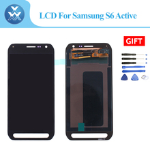 LCD Untuk Samsung Galaxy S6 Aktif G890 LCD Tampilan Layar Sentuh dengan Panel Digitizer Pantalla Penggantian Abu-abu/Biru/merah dengan Alat