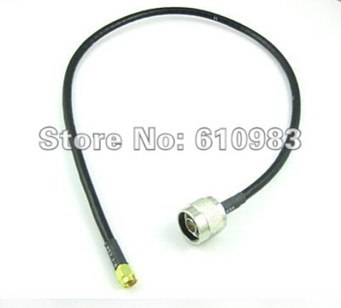 10 Pieces Extension Cable N Plug Male to RP SMA Male Female pin Connector Pigtail Cable RG58 50CM-in Connectors from Lights & Lighting    1