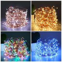 Copper Led String Light with Power Adapter with 11Key IR Remote Controller Waterproof Fairy Outdoor Xmas Decoration 50M 500led D
