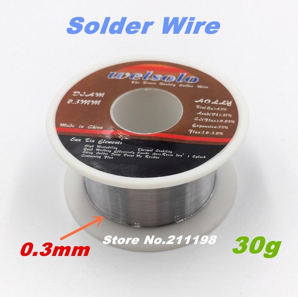 Tin Solder Welding Wires 0.3mm 30g Rosin Core Solder 63/37 Tin Lead ...