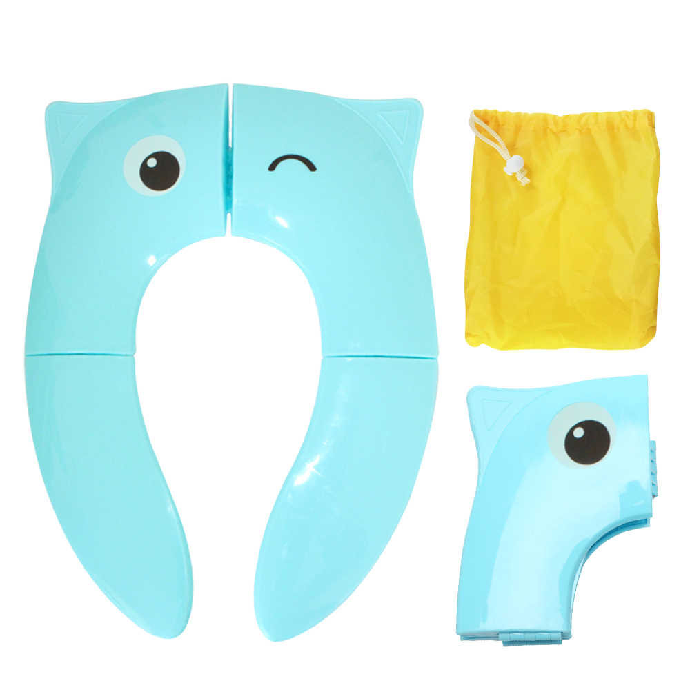 Foldable Potty Training Seat Cover Liner Toilet with Carry Bag for Toddler Kid Girl Boy Silicone Pads Reusable for home travel