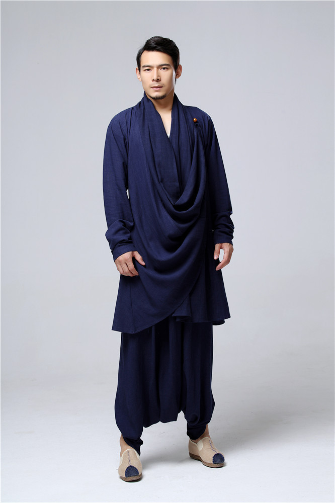 Chinese style Clothing Men cotton Linen Big Crotch Pants 1