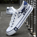 Men's Fashion canvas shoes 2016 Male Students Casual Breather  Skull Print casual footwear shoes