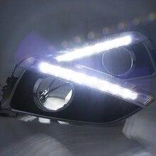 Per Hyundai ix35 IX35 2010-2012 Bright White LED DRL Guida Daytime Running Light Fendinebbia Day con il nero