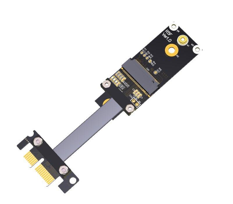 M.2 A.E. clé WiFi vers PCIe x1 adaptateur d'extension Riser Gen3.0 câble ruban carte réseau sans fil M2 clé AE A + E PCI-E 1x R15SF