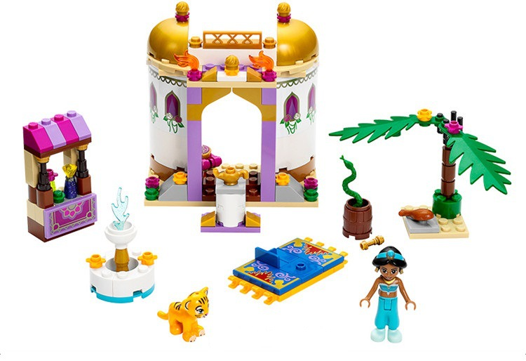 10434 145pcs Dream Sleeping Girl Series Aladdin Princess Jasmine Bricks Figures Building Block Toys Compatible with Legoingly10434 145pcs Dream Sleeping Girl Series Aladdin Princess Jasmine Bricks Figures Building Block Toys Compatible with Legoingly