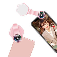 New Style Patent Live Mobile Phone Fill Light Lens Atmosphere Beauty Selfie Flood Lamp Wide-Angle Speedlight Flash(China)