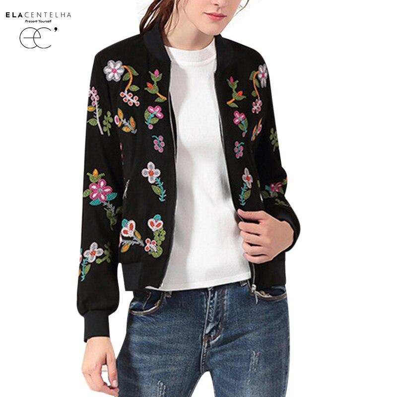 Elacentelha women jackets autumn spring ladies floral