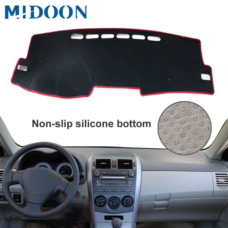 Dash Mat Dashmat Dashboard Cover Sun Shade Dash Board Cover Carpet For Toyota Corolla E140/E150 2006 2007 2008 2009 - 2013