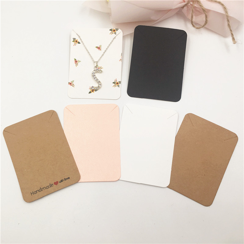 10Pcs Simple And Fresh Type Pretty Necklace Accessories Packaging Card New Design Hand Chain& Bracelet Display Card 7.8x5.6cm