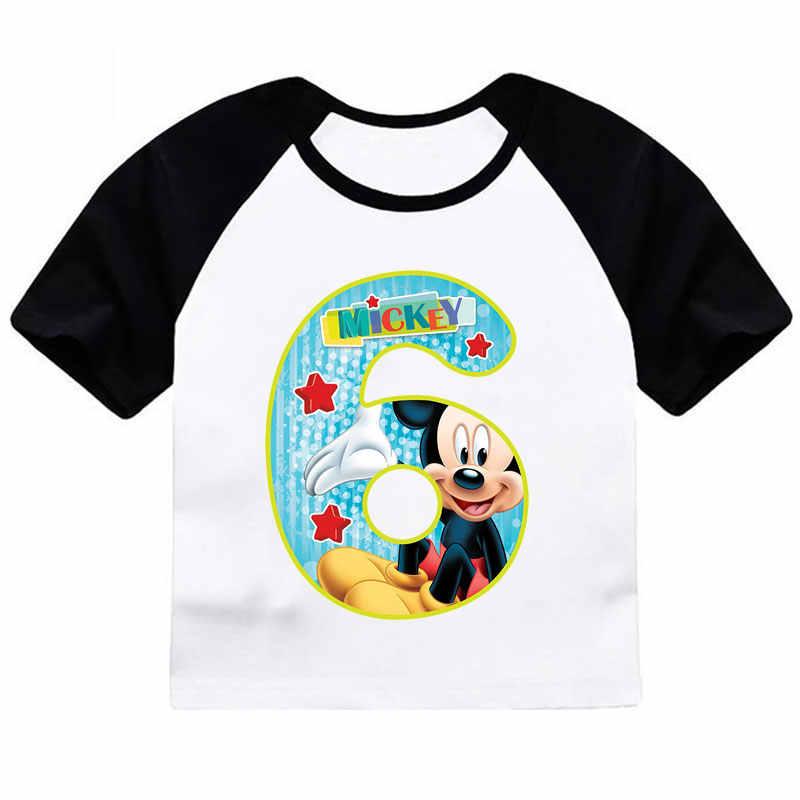 ZSIIBO เด็กสาวเสื้อยืดวันเกิดแผ่นพิมพ์ฤดูร้อนตลก O คอสั้นแขนเสื้อ Tees เด็กเสื้อ CX6L102